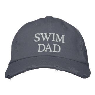 Swim Dad Embroidered Baseball Cap