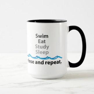 Swim Eat Study Sleep Mug