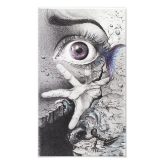 """Swim"" eye surreal drawing Photo print"