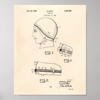 Swim Gap 1942 Patent Art Old Peper Poster