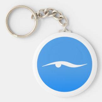 swim_in_Blue2Swimming logo on T-shirt Key Ring