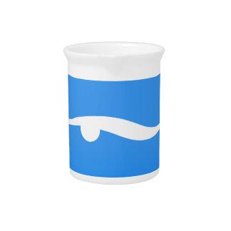 swim_in_Blue2Swimming logo on T-shirt Pitcher
