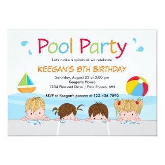 Swim Kids Pool Birthday Invitations │ Version One
