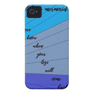 swim like a mermaid you never know when your legs iPhone 4 Case-Mate case