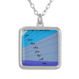 swim like a mermaid you never know when your legs silver plated necklace