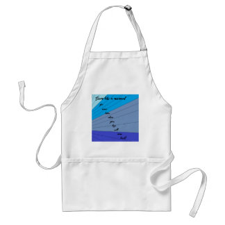 swim like a mermaid you never know when your legs standard apron