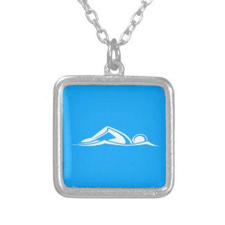 Swim Logo Necklace Blue