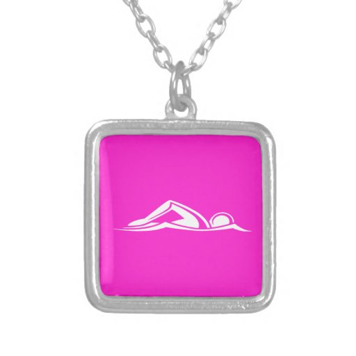Swim Logo Necklace Pink