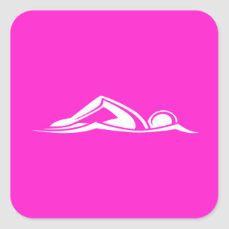 Swim Logo Sticker  Pink