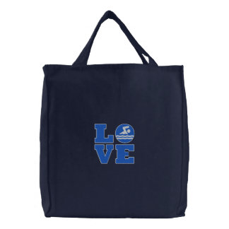 Swim LOVE Embroidered Tote for Swimmer/Coach/Fan