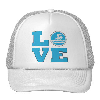 Swim Love For Competitive Swimmers or Coaches Cap