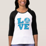Swim Love For Competitive Swimmers or Coaches Tee Shirts