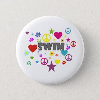 Swim Mixed Graphics 6 Cm Round Badge
