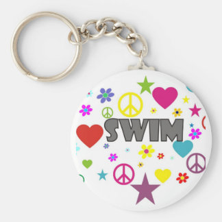 Swim Mixed Graphics Key Ring