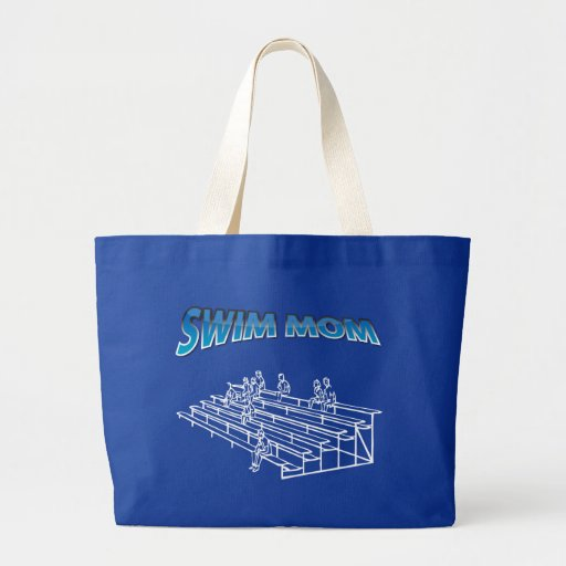 Swim Mom Jumbo Tote Bag
