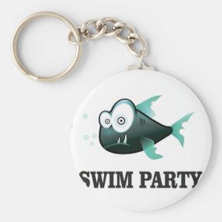 swim party crazy key ring