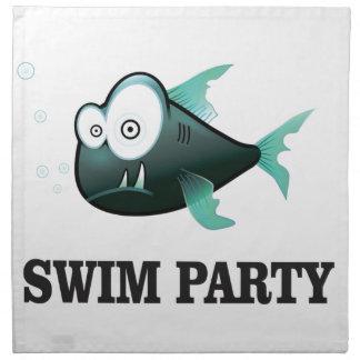 swim party crazy napkin