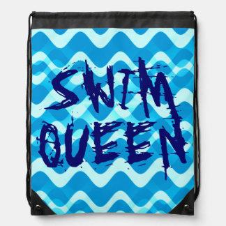 SWIM QUEEN DRAWSTRING BAGS