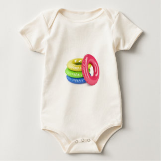 Swim rings baby bodysuit