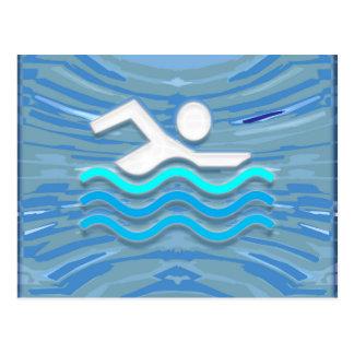 SWIM Swimmer Success Dive Plunge Success NVN238 Postcard