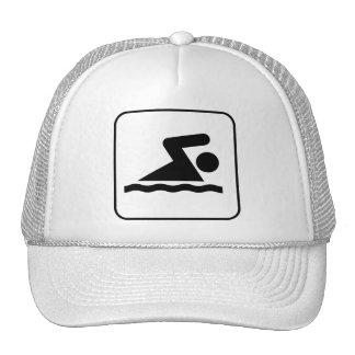 Swim Symbol Hat