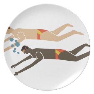 Swim Team Party Plate