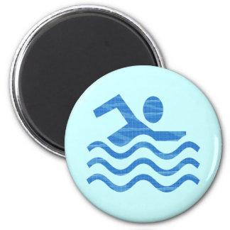 Swim Waves Magnet Magnets