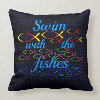 Swim with the fishes cushion