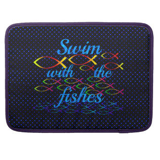 Swim with the fishes sleeve for MacBook pro