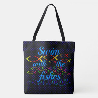 Swim with the fishes tote bag