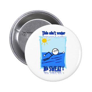 Swimmer 6 Cm Round Badge