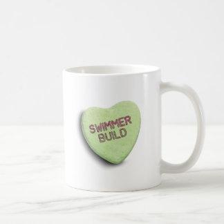 SWIMMER BUILD CANDY COFFEE MUG