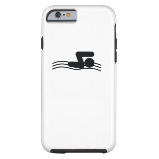 SWIMMER | cool sport icon Tough iPhone 6 Case