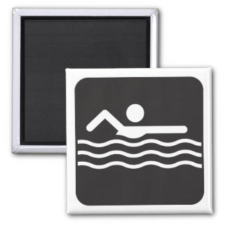 Swimmer Icon Magnet