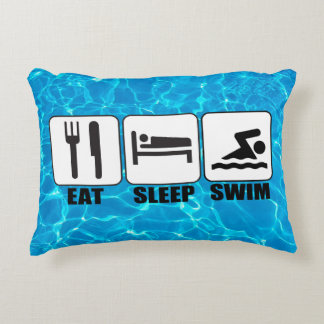 Swimmer or Coach (Eat, Sleep, Swim) Novelty Pillow