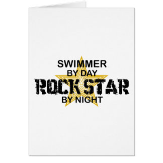 Swimmer Rock Star by Night Card