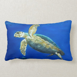 Swimmer (turtle) lumbar pillow
