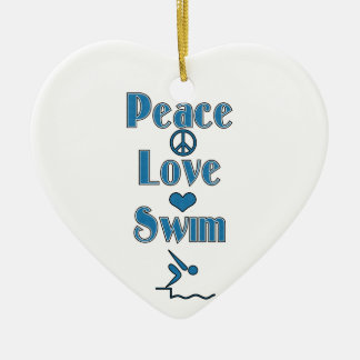 Swimmer's Christmas Photo Ornament Template
