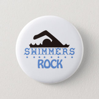 Swimmers Rock 6 Cm Round Badge