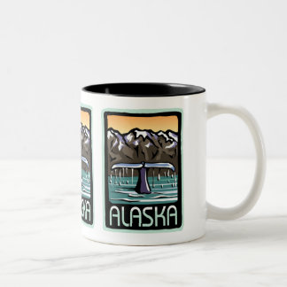Swimmin' in Alaska Two-Tone Coffee Mug