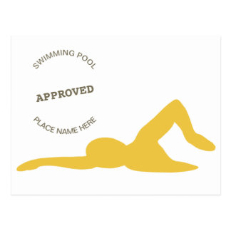 Swimming Approved Postcard