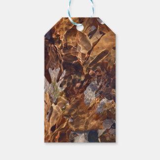 Swimming Autumn Leaves Abstract Photograpy Camo Gift Tags