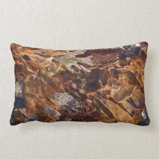 Swimming Autumn Leaves Abstract Photograpy Lumbar Cushion