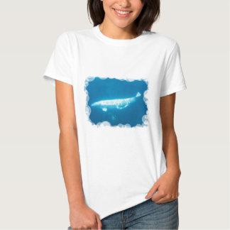 Swimming Beluga Whales Ladies T-Shirt