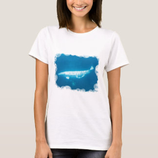 Swimming Beluga Whales Ladies T-Shirt