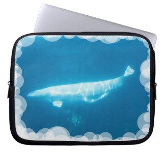 Swimming Beluga Whales Notebook Sleeve
