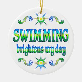 Swimming Brightens Ceramic Ornament