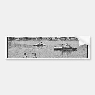 Swimming by the bridge bumper sticker
