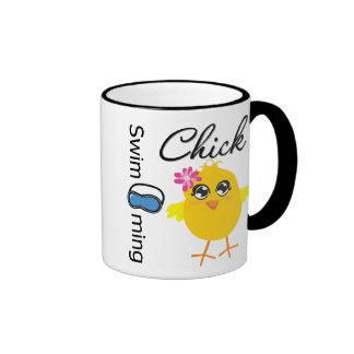 Swimming Chick Ringer Mug