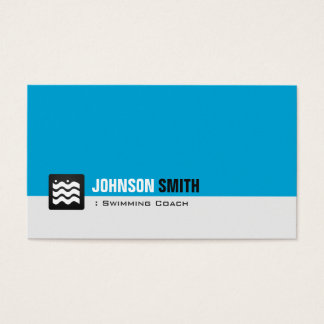 Swimming Coach Swimmer - Personal Aqua Blue Business Card